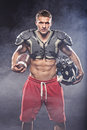 American Football Player Posing Royalty Free Stock Photography - 39847827