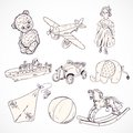 Toys Sketch Icons Set Royalty Free Stock Image - 39850736
