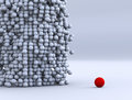 Red Ball Leader Royalty Free Stock Photo - 39858385