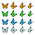 Set Of Butterflies Royalty Free Stock Photos - 39865818