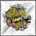 Abstract Floral Vector Design Grunge Card Stock Photography - 39867272