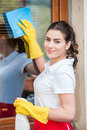 Portrait Of Cleaning Lady Stock Photography - 39871692