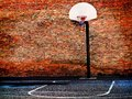 Urban Street Basketball Court And Hoop Royalty Free Stock Image - 39872306