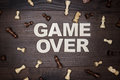 Game Over Concept On Wooden Background Royalty Free Stock Photography - 39875677