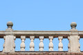 Old Stone Balustrade With Blue Sky Royalty Free Stock Images - 39884979