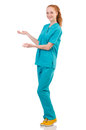 Woman-doctor In  Uniform Holding Hands Stock Photography - 39886762