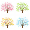 Four Seasons Tree Royalty Free Stock Image - 39890186