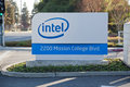 Intel Sign At Corporate Headquarters. Stock Photography - 39890712