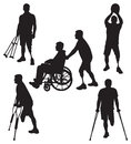 Amputee Silhouettes 11 Stock Images - 39898664