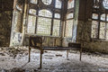 Old Rusty Bed In Ruinous House Stock Photography - 39899252