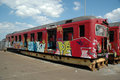 Graffiti On Old Train Stock Photography - 3994332