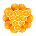 Pattern From Oranges Royalty Free Stock Photography - 3994557