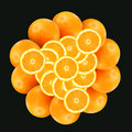 Pattern From Oranges  2 Royalty Free Stock Image - 3994766