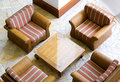 Striped Easy Chairs Stock Images - 3999664