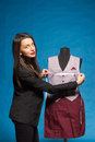 Young Tailor Posing With Mannequin Stock Photography - 39906022