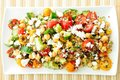 Gluten Free Vegetarian Salad Made With Quinoa, Chickpeas, Feta Stock Photography - 39907632