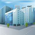 Street Of The City With Office Buildings Stock Photography - 39916082