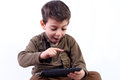 Boy With Tablet Stock Photo - 39917780