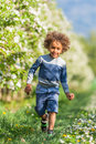 Cute African American Little Boy Playing Outdoor Stock Photo - 39919400