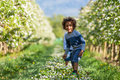 Cute African American Little Boy Playing Outdoor Stock Image - 39919431