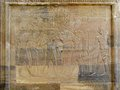 Temple Of Kom Ombo, Egypt: Relief Of The Pharaoh With Goddesses Royalty Free Stock Photo - 39919895