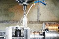 Drilling Process Of Metal On Machine Tool Stock Image - 39931541