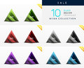 Collection Of Glass Triangle Web Boxes Royalty Free Stock Photography - 39938857