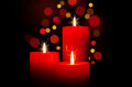 Red Candles For Christmas Stock Photography - 39941352