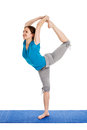 Yoga - Young Beautiful Woman Doing Yoga Asana Excerise Isolated Stock Images - 39960084