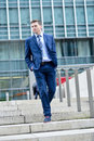 Business Man Walking Down Some Steps Stock Photography - 39970362