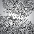 Music Sketchy Notebook Doodles. Stock Images - 39977824