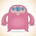 Three-eyed Pink Monster Royalty Free Stock Images - 39980539
