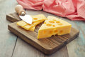 Cheese With Big Holes Royalty Free Stock Photography - 39988987