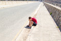 Sad And Lonely Boy Royalty Free Stock Photo - 39989745