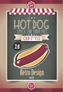 Vintage HOT DOG Poster Template Royalty Free Stock Photography - 39996707