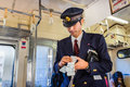 Japanese Train Conductor Royalty Free Stock Images - 39998809