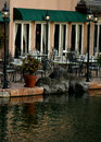 Outside Cafe On Waters Edge Royalty Free Stock Photos - 4000688