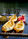 Boats Waiting To Be Rented Stock Photos - 4000693