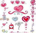 Vector Set Of Hearts Royalty Free Stock Image - 4003076
