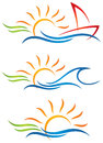 Sun Fun Logo Royalty Free Stock Images - 40006679