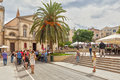 Tourists Walking At The City Center Royalty Free Stock Photos - 40016838