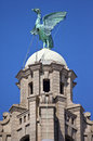 Liver Bird Perched On The Royal Liver Building Royalty Free Stock Photos - 40024448