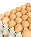 Eggs In The Package Isolated On White Royalty Free Stock Photo - 40029415