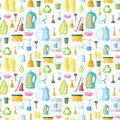 Cleaning Icon Seamless Pattern Royalty Free Stock Images - 40030819