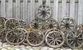 Old Wooden Wheels From A Cart Stock Images - 40032844