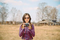 Woman With Photo Camera Stock Images - 40039104