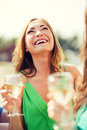Girl With Champagne Glass Royalty Free Stock Photo - 40042945