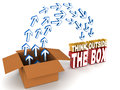 Think Outside The Box Stock Photography - 40043272