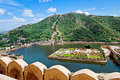 Maota Lake And Gardens Of Amber Fort In Jaipur, India Royalty Free Stock Photo - 40053905