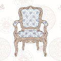 Vintage Chair And Radial Pattern Stock Photos - 40056683